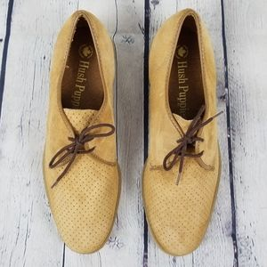 HUSH PUPPIES | perforated suede oxford shoes